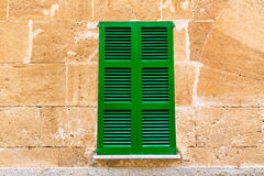 Alcudia Old Town wood shutters Mallorca Royalty Free Stock Images
