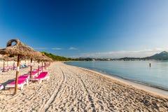 Alcudia plaża Obrazy Royalty Free