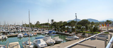 Alcudia port panorama, Majorca Stock Images