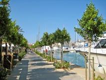 Alcudia port promenade, Majorca Royalty Free Stock Photography
