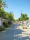 Alcudia port promenade, Majorca Stock Photo