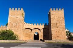 Alcudia Porta de Mallorca in Old town at Majorca Stock Photos