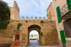 Alcudia Porta de Mallorca in Old town at Majorca Stock Images