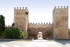 Alcudia puerta de la muralla Mallorca castle Stock Images
