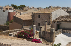 Alcudia roofs Royalty Free Stock Image