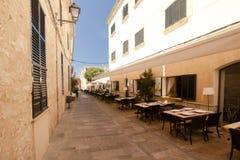 Alcudia Stary miasteczko w wyspie Majorca, Hiszpania 28 06 2017 Zdjęcie Royalty Free