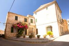Alcudia Stary miasteczko w wyspie Majorca, Hiszpania 28 06 2017 Obraz Royalty Free