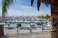 Alcudia yacht harbor Royalty Free Stock Photography