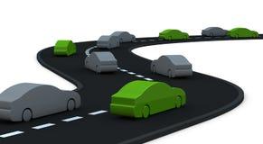 Alcune automobili ad inquinamento zero Immagine Stock Libera da Diritti