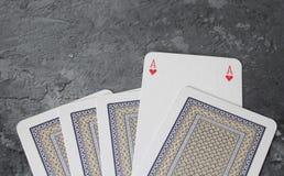 Alcune carte della mazza Immagini Stock