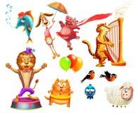 Illustrazione degli animali differenti di generi royalty illustrazione gratis
