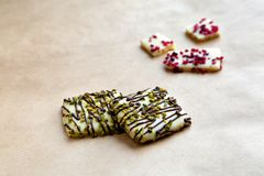 Alcuni biscotti del cioccolato Fotografie Stock