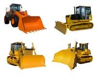 Alcuni bulldozer Fotografia Stock