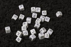 Alcuni cubi di bianco Immagine Stock