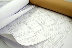 Alcuni disegni di archiceture Immagine Stock