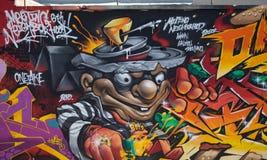 Alcuni graffiti sulla via Fotografia Stock