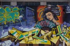 Alcuni graffiti sulla via Immagini Stock Libere da Diritti