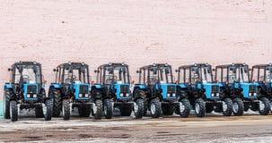 Alcuni trattori in azione. Fotografia Stock Libera da Diritti