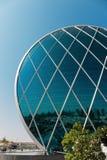 Aldar总部修造是第一个圆大厦它 库存图片