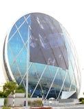 Aldar Hauptquartier Reflexionen, Eingang u. Front View Stockbilder