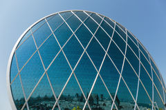 Aldar headquarters building is the first circular building of it Royalty Free Stock Photos