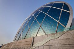 Aldar HQ Yas wyspa Abu Dhabi Zdjęcia Stock
