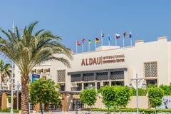 Aldau Internationaal Vergaderingscentrum in Egypte stock afbeeldingen