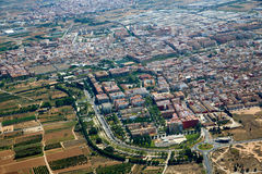 Aldaya and Alacuas villages aerial photo Stock Image