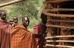 Aldeões de Karamojong, Uganda imagem de stock royalty free