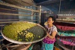 Aldeões de NOK de Sanuan da proibição, província de Buriram Tailândia - abril Fotografia de Stock