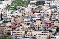 Aldea árabe de Silwan en Jerusalén oriental Fotografía de archivo libre de regalías