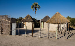 Aldea africana Fotografía de archivo libre de regalías