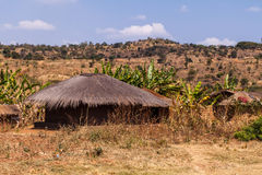 Aldea africana Fotografía de archivo