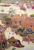 Aldea antigua tailandesa Fotografía de archivo