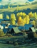 Aldea Baihaba, xinjiang, China del otoño Imagen de archivo libre de regalías