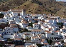 Aldea blanca española. Cutar. Andaluc3ia Imagen de archivo