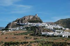 Aldea blanca, Zahara de la Sierra, España. foto de archivo