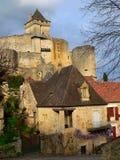 Aldea Castelnaud (Francia) Imágenes de archivo libres de regalías