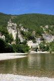 Aldea de Castelbouc Foto de archivo libre de regalías
