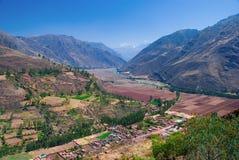 Aldea de Coya, valle sagrado, Cusco, Perú Fotografía de archivo