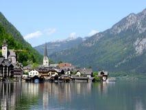 Aldea de Hallstatt en Austria Fotos de archivo libres de regalías