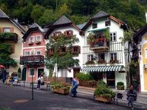 Aldea de Hallstatt en Austria Fotos de archivo