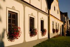Aldea de Holasovice imagenes de archivo