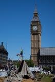 Aldea de la democracia en cuadrado del parlamento Imágenes de archivo libres de regalías