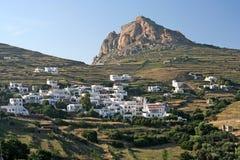 Aldea de la isla de Tinos Foto de archivo libre de regalías