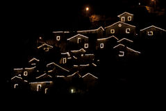 Aldea de la Navidad Fotografía de archivo