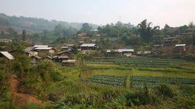Aldea de la tribu de la colina en Mae Hong Son, Tailandia Imágenes de archivo libres de regalías