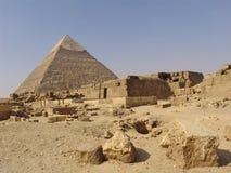 Aldea de las pirámides Fotos de archivo libres de regalías