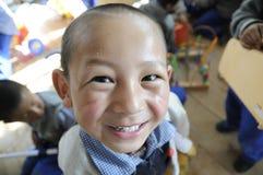 Aldea de los niños tibetanos Imágenes de archivo libres de regalías
