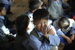 Aldea de los niños tibetanos Foto de archivo libre de regalías